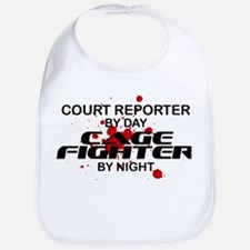 Court Reporter Cage Fighter by Night Bib