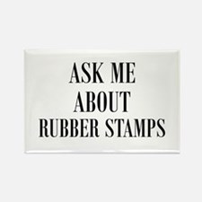 Ask Me About Rubber Stamps Rectangle Magnet