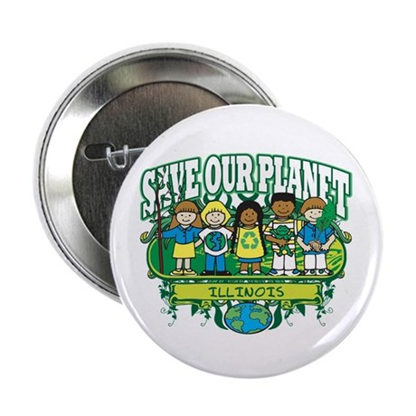 """Earth Kids Illinois 2.25"""" Button (100 pack)"""