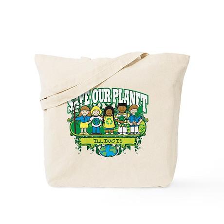 Earth Kids Illinois Tote Bag
