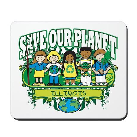 Earth Kids Illinois Mousepad