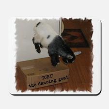 Dancing Toby Goat Mousepad