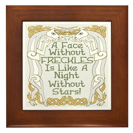 Without Freckles Framed Tile