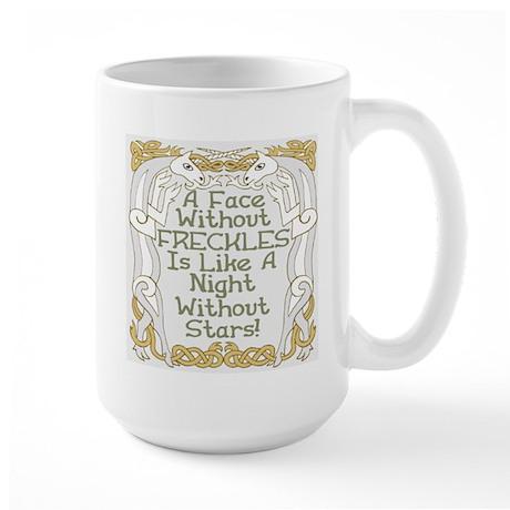 Without Freckles Large Mug