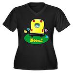 Noooo! Women's Plus Size V-Neck Dark T-Shirt