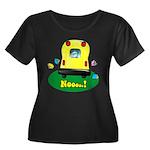 Noooo! Women's Plus Size Scoop Neck Dark T-Shirt