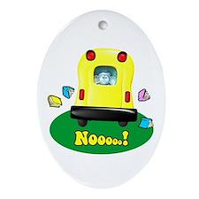 Noooo! Oval Ornament