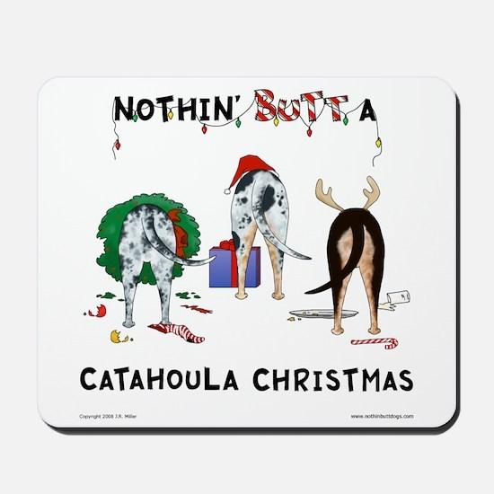 Nothin Butt Catahoula Xmas Mousepad