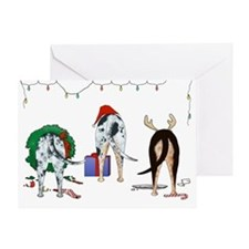 Catahoula Christmas Greeting Card