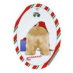 Cocker Spaniel Christmas Oval Ornament