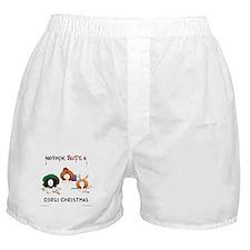 Nothin' Butt A Corgi Xmas Boxer Shorts