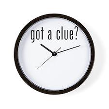 got a clue Wall Clock