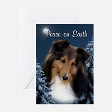 Peace Sheltie #3 Xmas Card (Pk of 20)