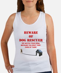 Beware of Dog Rescuer! Women's Tank Top