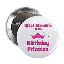"Great Grandma 1st Birthday Pr 2.25"" Button"