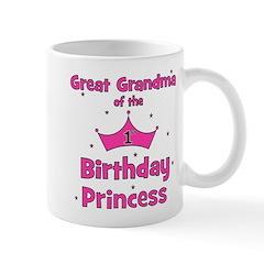 Great Grandma 1st Birthday Pr Mug
