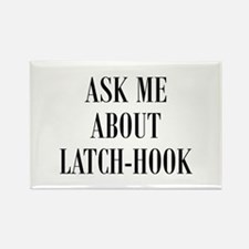 Yarn - Ask Me About Latch-Hoo Rectangle Magnet