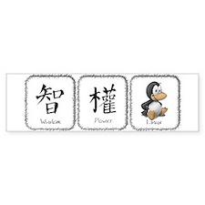W, P, Linux Bumper Sticker
