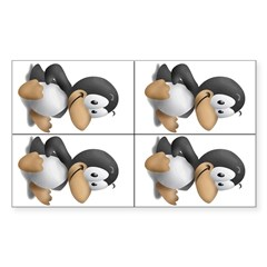 Baby Tux 4-up Rectangle Decal
