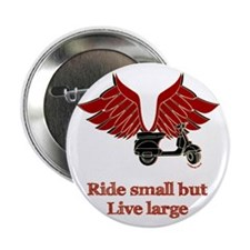 """Ride Small, Live Large 2.25"""" Button (100 pack)"""