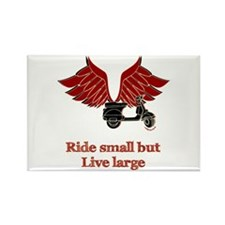 Ride Small, Live Large Rectangle Magnet (10 pack)