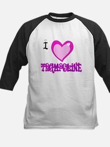 I Love Trampoline Kids Baseball Jersey