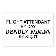 Flight Attendant Deadly Ninja by Night Postcards (