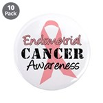 "Endometrial Awareness 3.5"" Button (10 pack)"