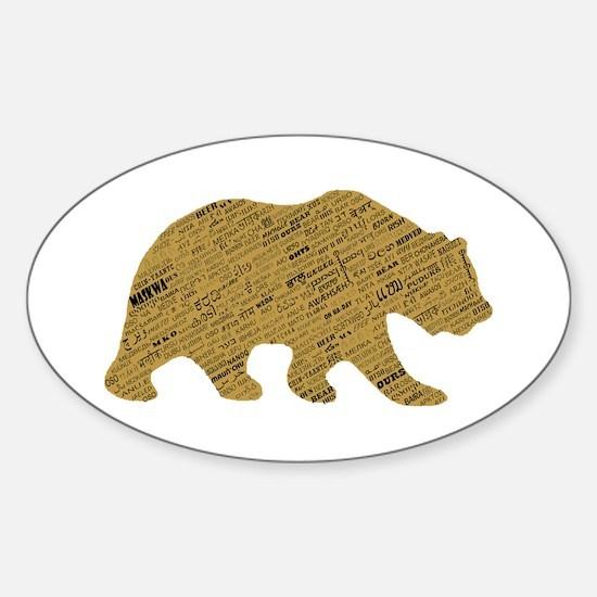 International Bear Oval Decal