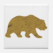 International Bear Tile Coaster
