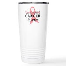 Endometrial Cancer Warrior Travel Mug