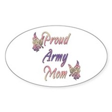 Proud Army Mom Oval Decal