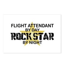 Flight Attendant Rock Star by Night Postcards (Pac