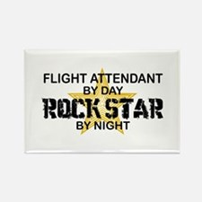 Flight Attendant Rock Star by Night Rectangle Magn