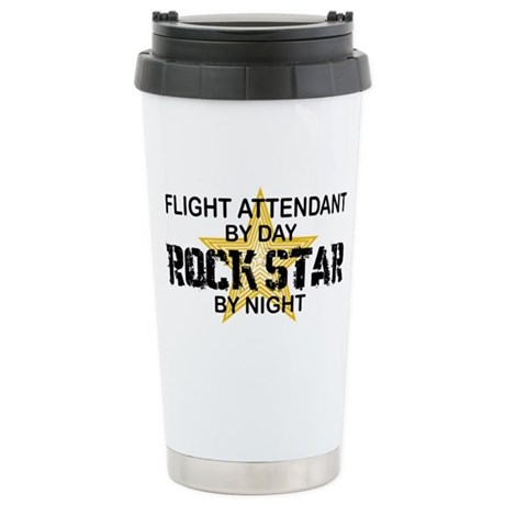 Flight Attendant Rock Star by Night Stainless Stee