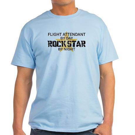 Flight Attendant Rock Star by Night Light T-Shirt