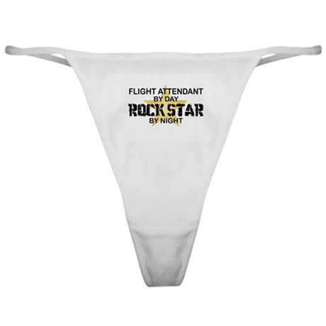 Flight Attendant Rock Star by Night Classic Thong