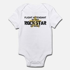 Flight Attendant Rock Star by Night Infant Bodysui