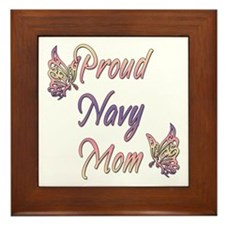 Proud Navy Mom Framed Tile