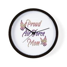 Proud Air Force Mom Wall Clock