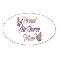 Proud Air Force Mom Oval Sticker (10 pk)