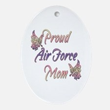 Proud Air Force Mom Oval Ornament