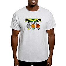 Jamaican Gold Silver Bronze T-Shirt