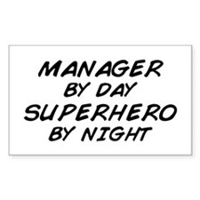 Manager Superhero by Night Rectangle Decal