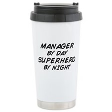 Manager Superhero by Night Travel Mug