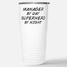Manager Superhero by Night Travel Mug