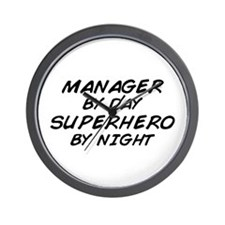 Manager Superhero by Night Wall Clock