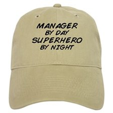 Manager Superhero by Night Baseball Cap