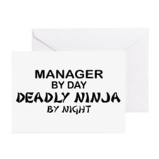 Manager Deadly Ninja by Night Greeting Cards (Pk o