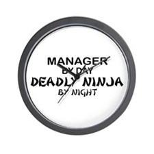 Manager Deadly Ninja by Night Wall Clock